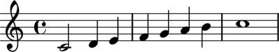LilyPond voorbeeld